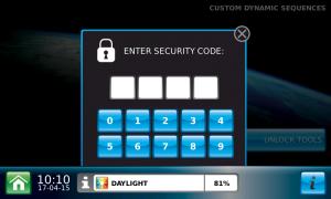 DLS panel screen_