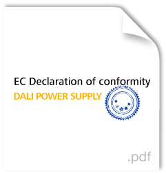 Dali Power Supply declaration of conformity